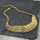 Metal Feather Necklace