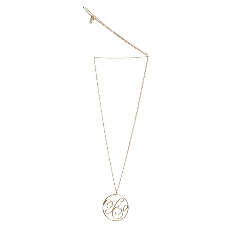 9ct solid gold monogram pendant by sibylle de baynast jewels 9ct yellow gold bespoke monogram pendant aloadofball Gallery