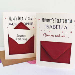 'Mum's Treats' Secret Messages Card