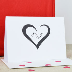 Personalised Heart Engagement Card - shop by category