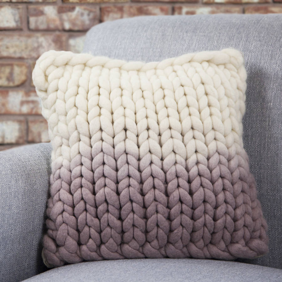 Free Knitting Patterns Cushions : diptford dip dyed panel cushion by lauren aston notonthehighstreet.com