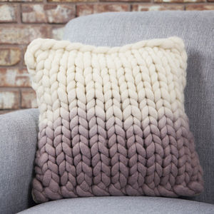 Diptford Dip Dyed Panel Cushion - cosy nordic living room