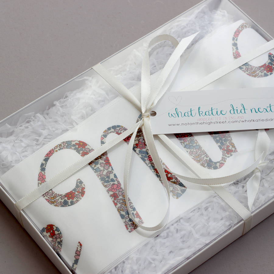 personalised bride to be liberty print sash by what katie did next