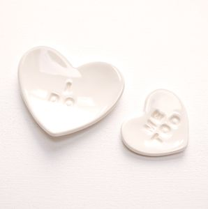 'I Do, Me Too' Ceramic Heart Nesting Bowls - jewellery storage & trinket boxes
