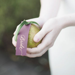 Personalised Calligraphy Name Tags - rustic wedding