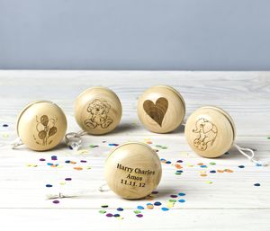 Personalised Traditional Wooden Yoyo Toy - keepsake toys
