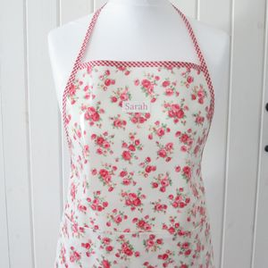 Personalised Oilcloth Floral Apron - kitchen accessories