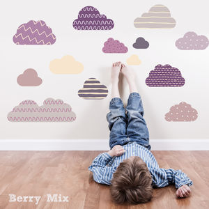 Clouds Fabric Wall Stickers - kitchen