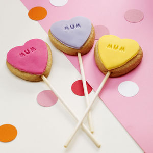 Ten Mother's Day Cookie Pops - biscuits and cookies