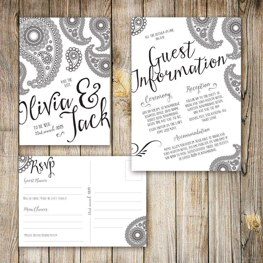 New wedding invitations for you: Wedding invitations and guest
