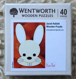 Jacob Rabbit Travel Wooden Puzzle With Whimsies