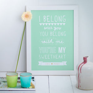 Personalised Lumineers Print - gifts for her