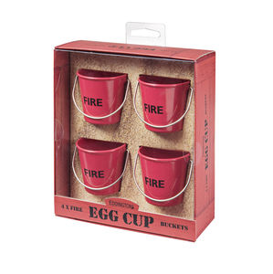 Egg Cup Buckets / Red Fire - egg cups & cosies