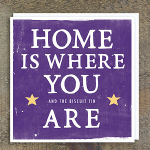'Home Is Where You Are' Card - home sale