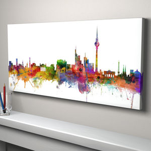 Berlin Germany Skyline Cityscape Art Print - architecture & buildings