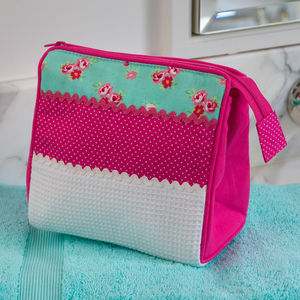 Ditsy Patched Square Cosmetic Bag