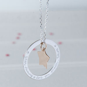 Personalised Eternity Star Necklace - jewellery for women