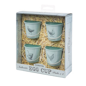 Egg Cup Buckets / Retro Blue Hens