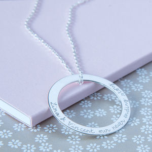 Personalised Eternity Necklace - gifts for her