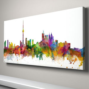 Toronto Canada Skyline Cityscape Art Print - canvas prints & art