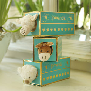 Boxed Baby Comforter/Soother Optional Personalisation - blankets, comforters & throws