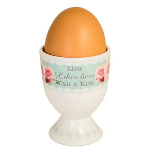 Personalised Floral Egg Cup