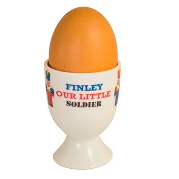 Personalised Soldier Egg Cup