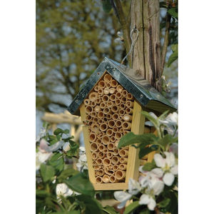 Bee House Nest With Zinc Roof - small animals & wildlife