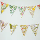 Flower Paper Bunting