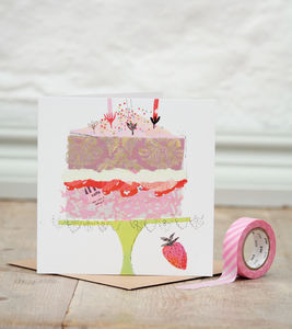 Victoria Sponge Birthday Card