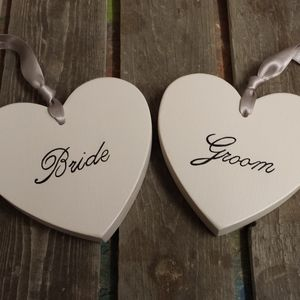 Bride And Groom Hearts - signs