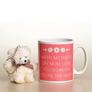Personalised Mothers Day Mug And Key Ring Gift Set