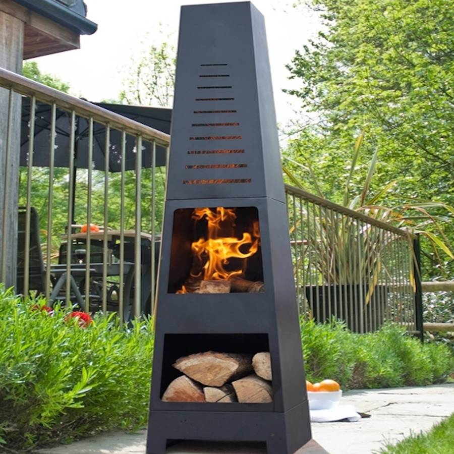 Skyline Chiminea Patio Heater And Log Store