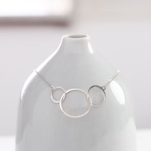 Three Ring Sterling Silver Necklace - necklaces & pendants