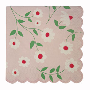 Princess Party Flower Napkins