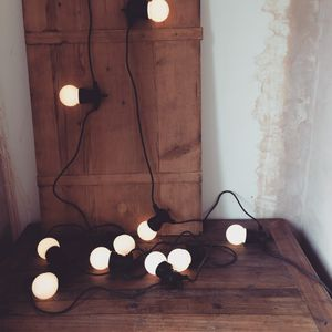 Warm White Cafe Style Festoon Lights - outdoor lights