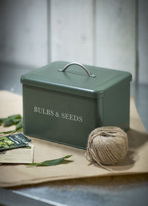 Bulb And Seeds Box In Thyme - storage