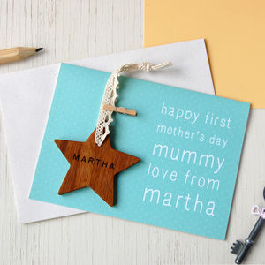 Personalised First Mother's Day Star Card - decorative accessories