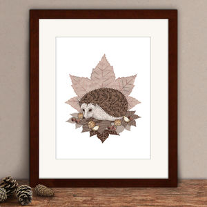 Limited Edition Hedgehog Print - posters & prints