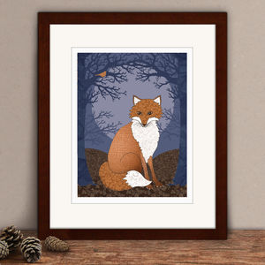 Limited Edition Fox Print - animals & wildlife