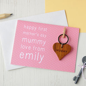 Personalised First Mother's Day Keyring Card - seasonal cards