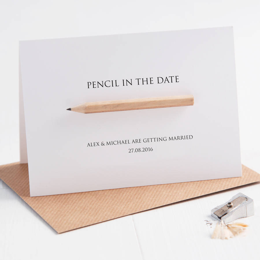 Pencil Us In Save The Date Card By