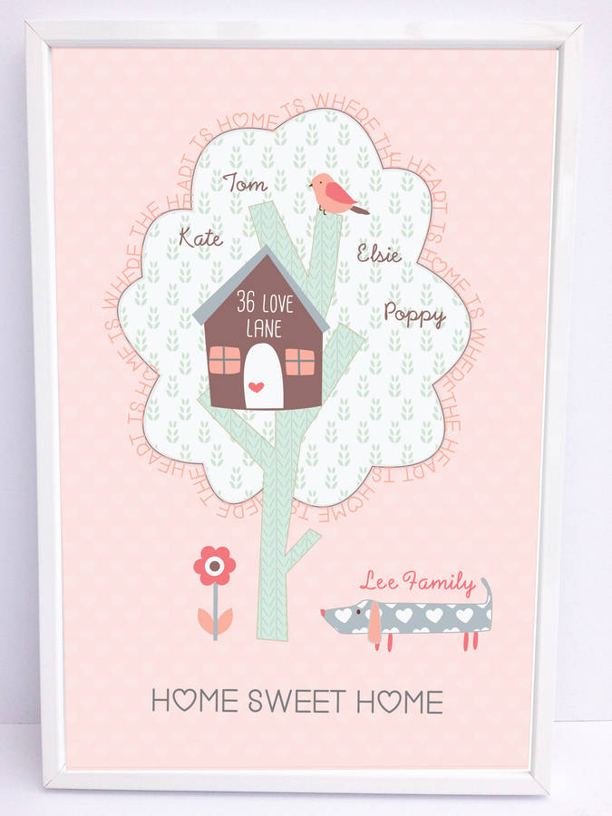 home sweet home a4 print by buttongirl designs ...