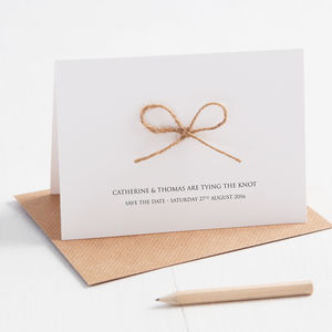 Tying The Knot Save The Date Card - save the date cards