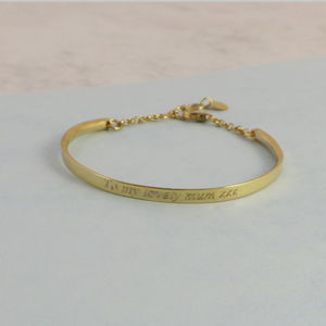 18ct Gold Plated Sterling Silver Personalised Banglet - bracelets & bangles