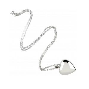 Chiming Heart Silver Necklace - christening jewellery