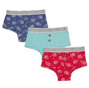 Girls Three Pack Of Boxer Style Knickers