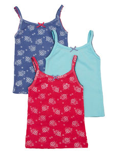 Girls Three Pack Of Vests Gift Boxed