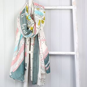 London Zoo Map Scarf - women's accessories