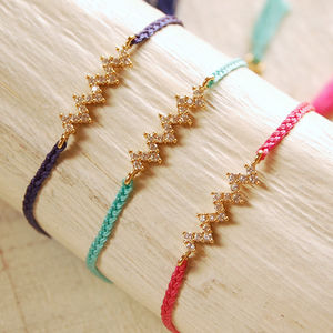 Zig Zag Friendship Bracelet - stacking bracelets